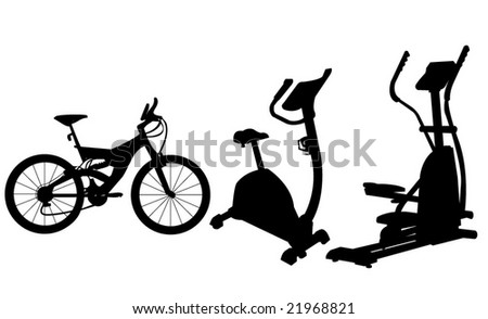 Vector of three type of  exercise cycles