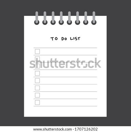 Vector of to do list with check box and blank space memo. Stock photo ©