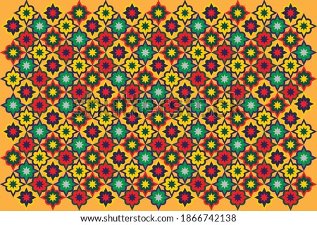 Vector of traditional ajrak design. Indian or Pakistani cultural motif for premium advertising campaign. Balochi Fabric or Rajasthani Suit. Сток-фото ©