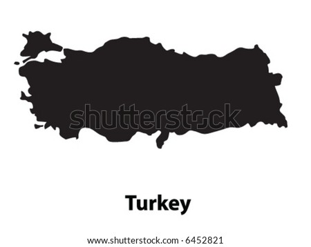 Vector of Turkey