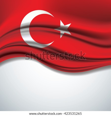 vector of turkey flag blowing