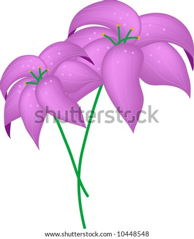 vector of two violet flowers