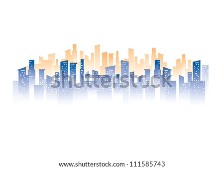 vector of urban graphical city and building