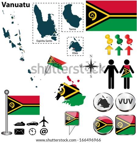 vector of vanuatu set with