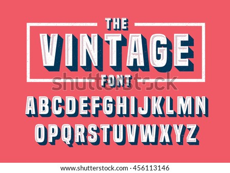 vector of vintage font and