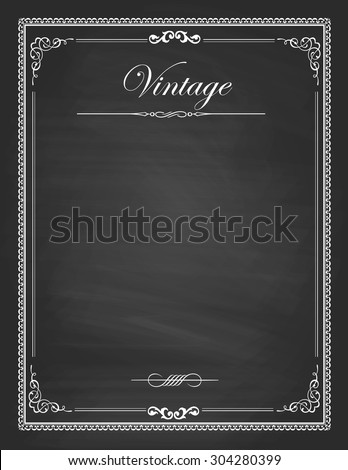 vector of  vintage frames ...