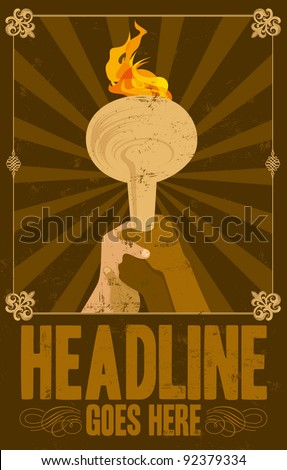 vector of vintage poster background