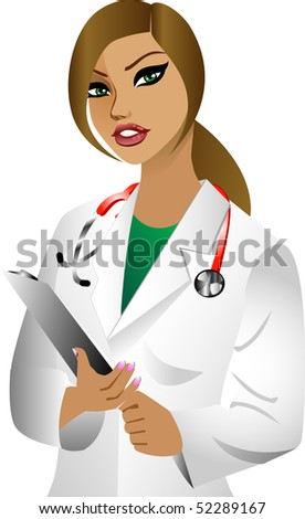 Vector of white woman doctor. See others in this series.