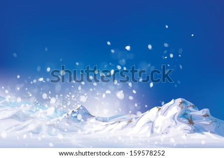 vector of winter scene  white