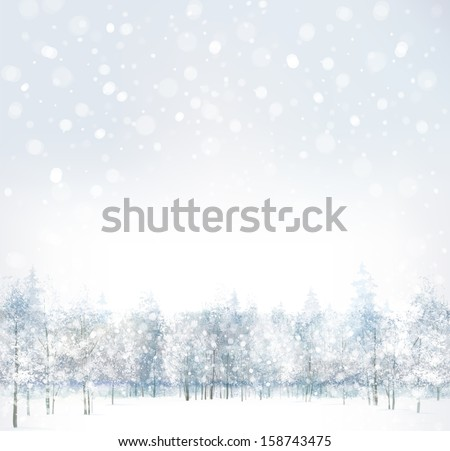 vector of winter scene with