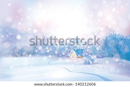vector of winter snowy