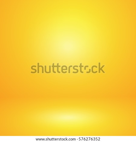 Vector of yellow empty studio room background, template mock up for display of content or product