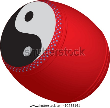 vector of yin yang chinese drum for dragon dance