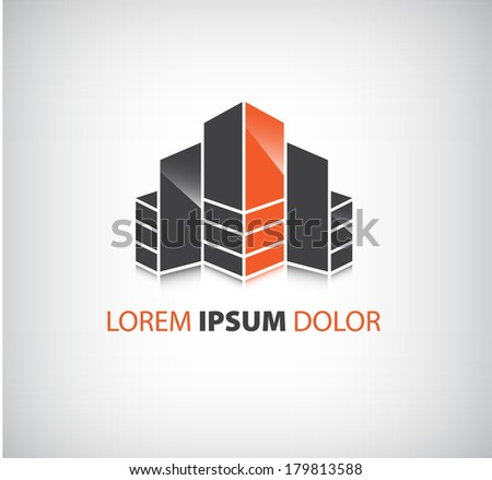 vector office builing icon, logo isolated, identity