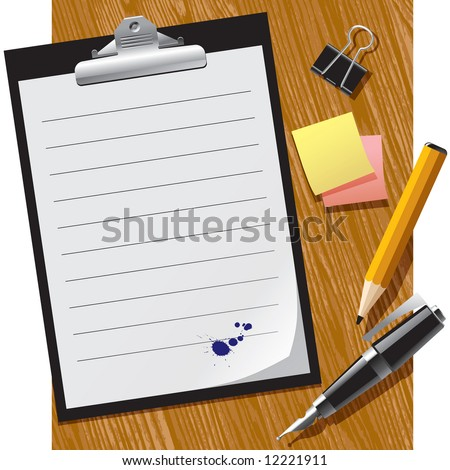 Vector office supplies - stock vector