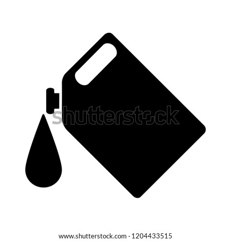 vector oil can illustration - oil container symbol, fuel sign. gasoline symbol