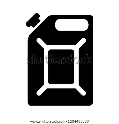 vector oil can illustration - oil container symbol, fuel sign. gasoline symbol
