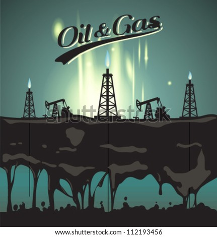 Vector oil & gas background