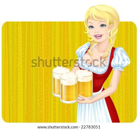 Vector Oktoberfest girl