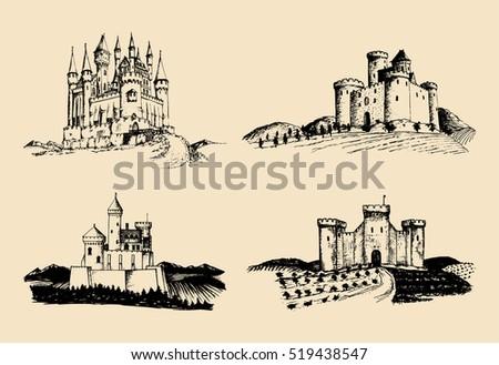 vector old castles