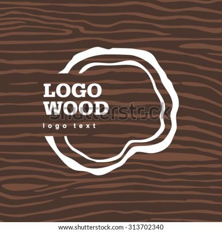 vector old dry brown wood loogo