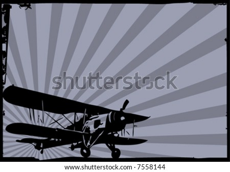 vector old plane