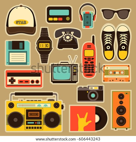 vector old style equipments ...