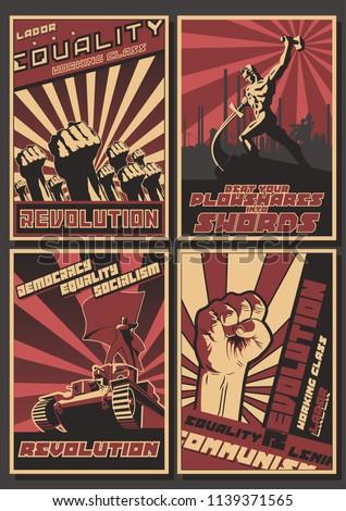 vector old ussr revolution