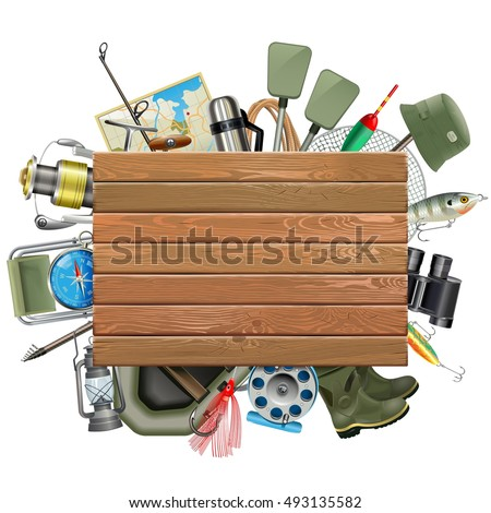 vector old wooden board with