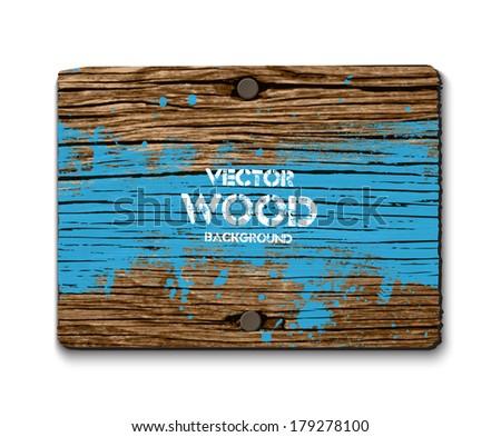 vector old wooden rectangular