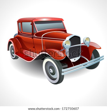 vector oldtimer car