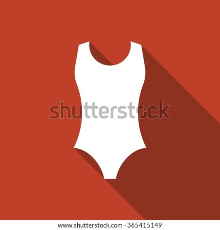 vector one piece swimsuit icon