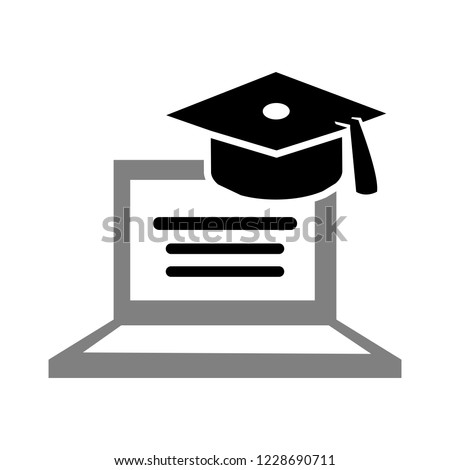 vector online learning concept. education icon