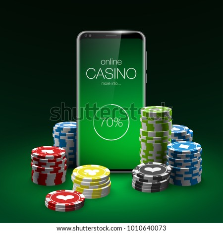 Vector Online Poker casino banner with a mobile Samsung Galaxy S8 S9?, chips playing cards and dice. Luxury Banner Jackpot Online Casino. New model Smartphone advertising poster Samsung Galaxy S8 S9