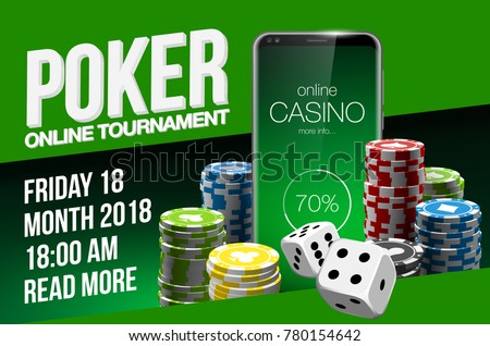Vector Online Poker casino banner with a mobile Samsung Galaxy S8 S9, chips playing cards and dice. Luxury Banner Jackpot Online Casino. New model Smartphone advertising poster Samsung Galaxy S8 S9