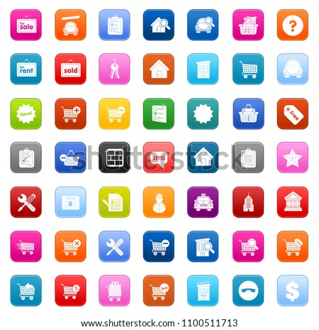 vector online shopping icons...