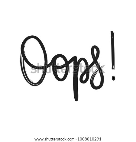 vector oops lettering ink