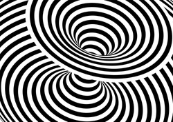 Vector op art pattern. Optical illusion abstract background