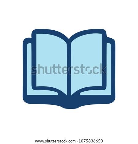 vector Open book - education icon, library illustration - school symbol