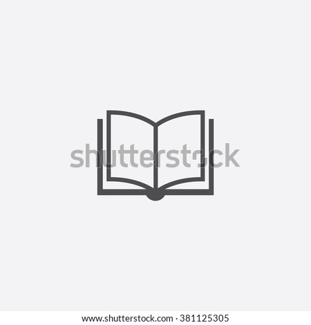 Vector open book Icon for mobile and  UI