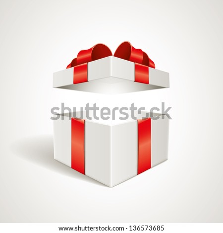 vector open gift box
