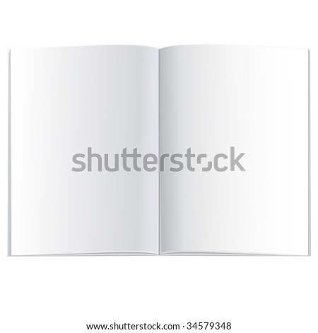 vector opened empty book (plan view)