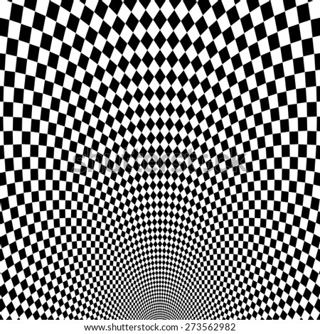 vector optical illusion black