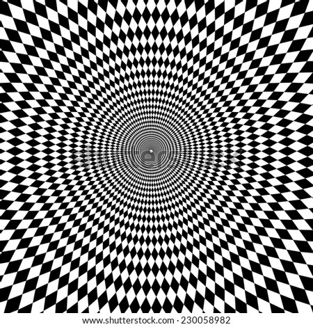 vector optical illusion zoom