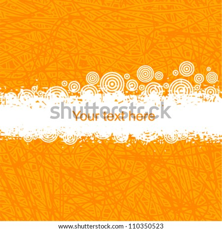 Vector orange background with place for text (grunge style)