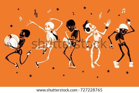 vector orange dancing and