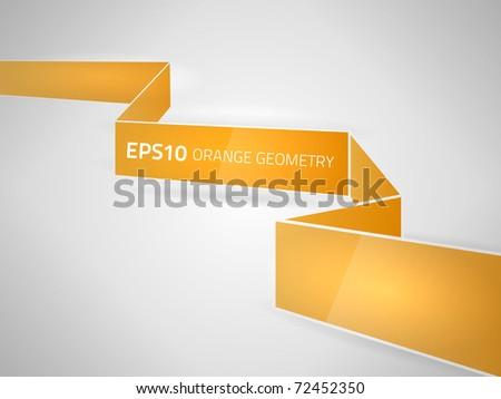 Vector orange geometry design - stock vector