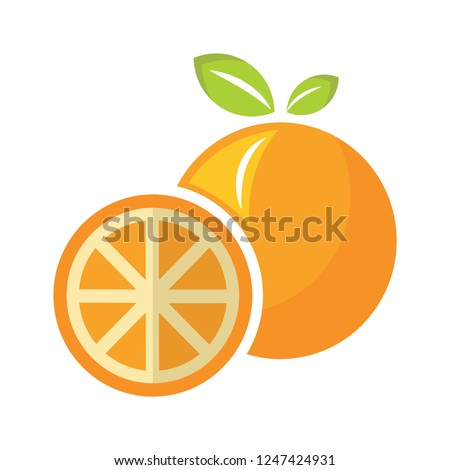 vector orange illustration. natural healthy fresh food - orange juice icon
