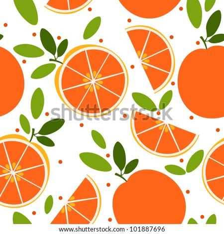 vector orange pattern