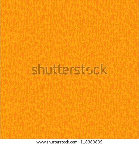Vector orange pattern - happy people. For easy making seamless pattern just drag all group into swatches bar, and use it for filling any contours.